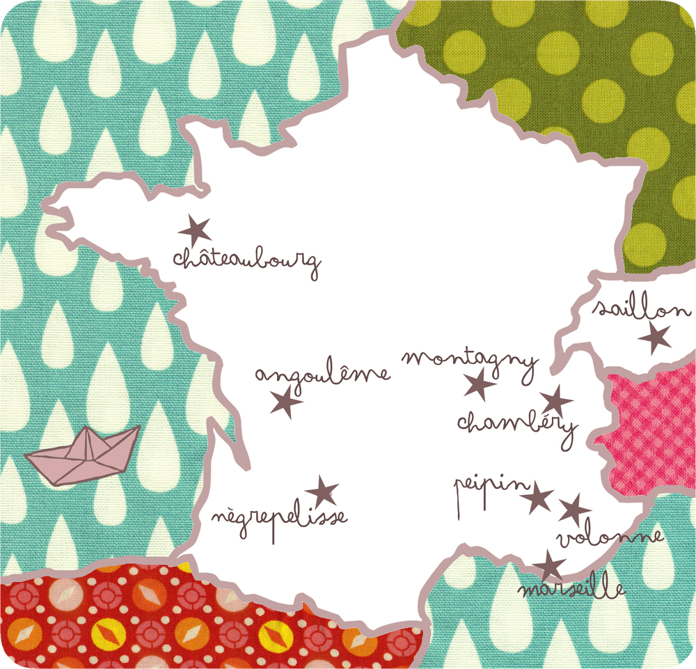 carte france ateliers red